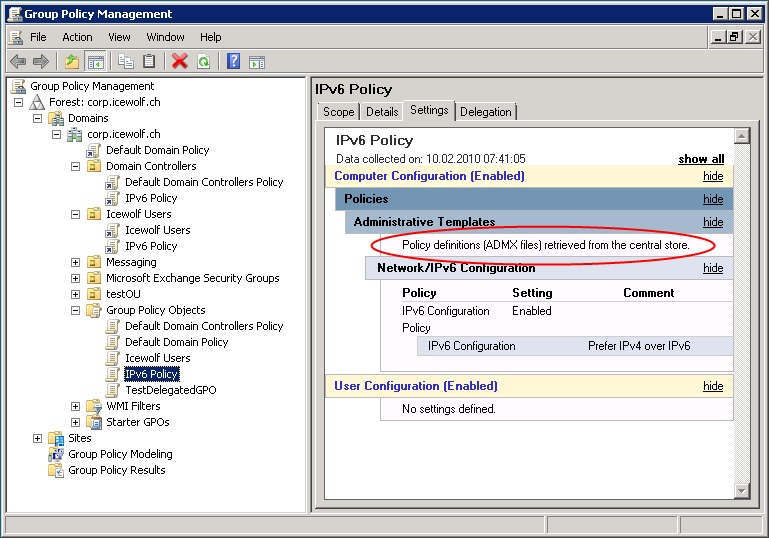 Central store for group policy administrative templates admx grsse pronofoot35fo Gallery