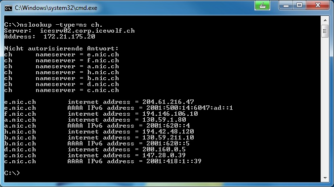 reverse dns lookup linux