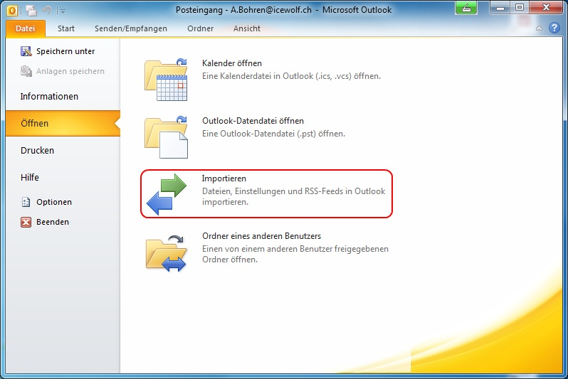 outlook 2010 export pst