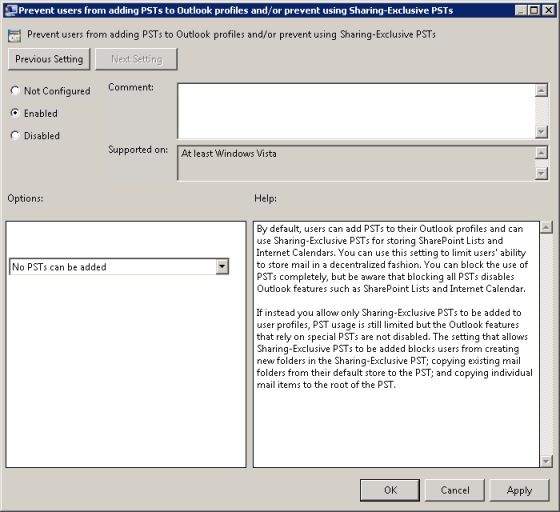 how to add enterprise vault in outlook 2010