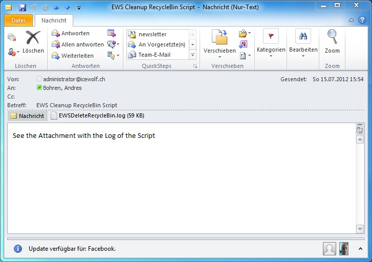 EWS Managed API Demo: Delete Items in Recycle Bin older than
