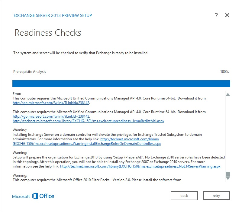 Exchange 2013 Preview Installation Screenshots
