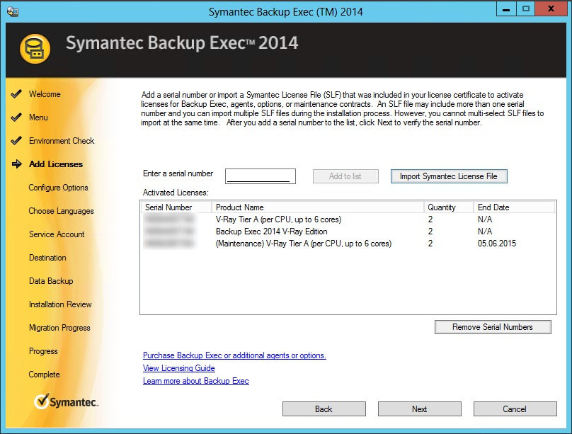 manually install backup exec remote agent 2015