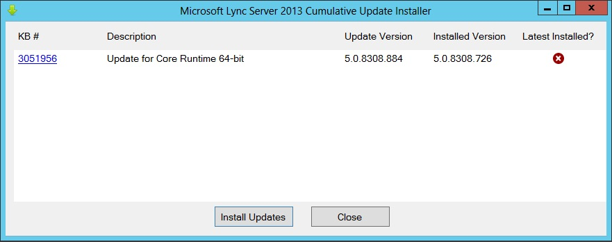 Lync Instant Message : Lync updates mai