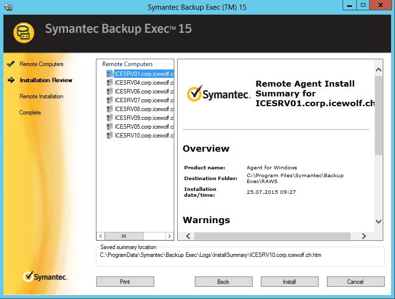VERITAS Backup Exec for Windows Servers   - Symantec