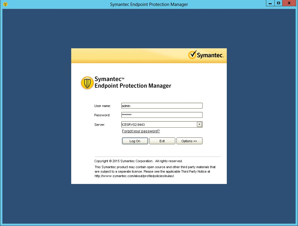 how to take backup of symantec endpoint protection manager