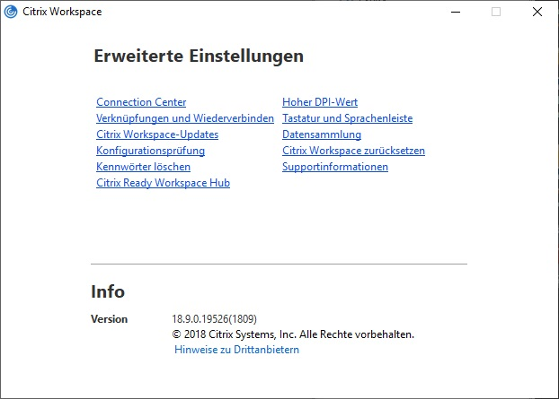 Citrix Workspace App (sucessor of Citrix Receiver)