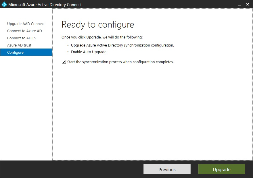 Microsoft Azure Active Directory Connect 1 2 69 0